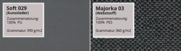 Design Ecksofa Bangkok, Moderne Eckcouch mit Schlaffunktion und Bettkasten, Ecksofa für Wohnzimmer, Gästezimmer, Couch L-Form, Wohnlandschaft, (Ecksofa Links, Soft 029 + Majorka 03) - 6