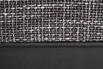 Großes Ecksofa SULTAN schwarz Strukturstoff schwarz OT rechts - 8