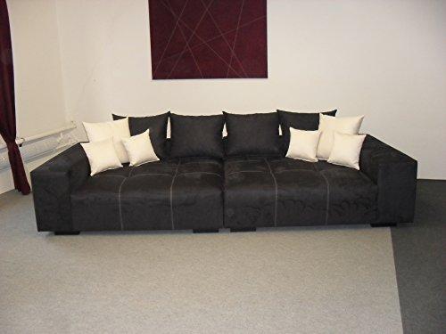 Big Sofa Federkern ~ ▷ big sofa mit schlaffunktion im vintage look braun juni